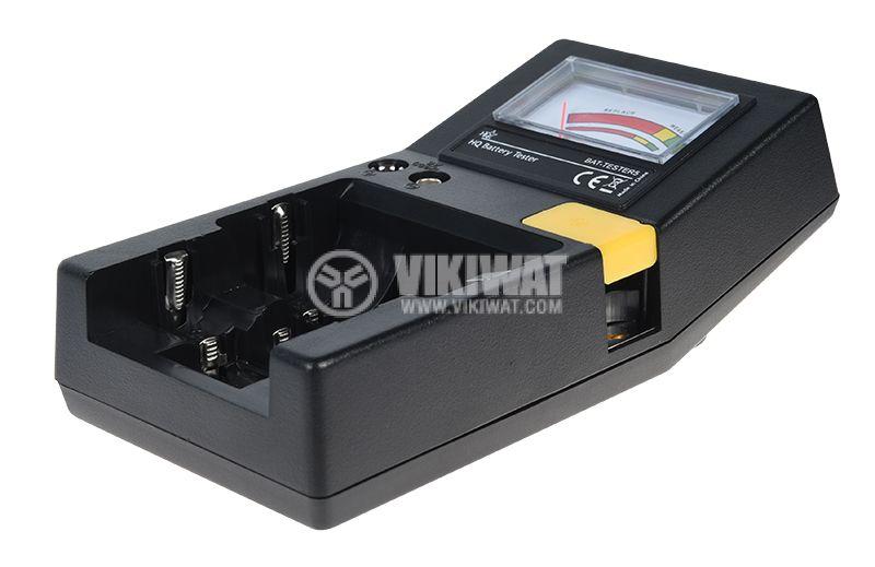 Тестер за батерии BAT-TESTER5 AAA AA C D 9V плоски батерии - 1