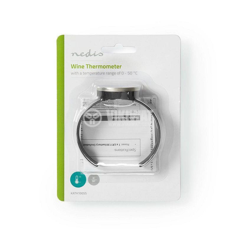 Термометър за вино, от 0 до 50°C, KATH100SS, за бутилка, дисплей - 5