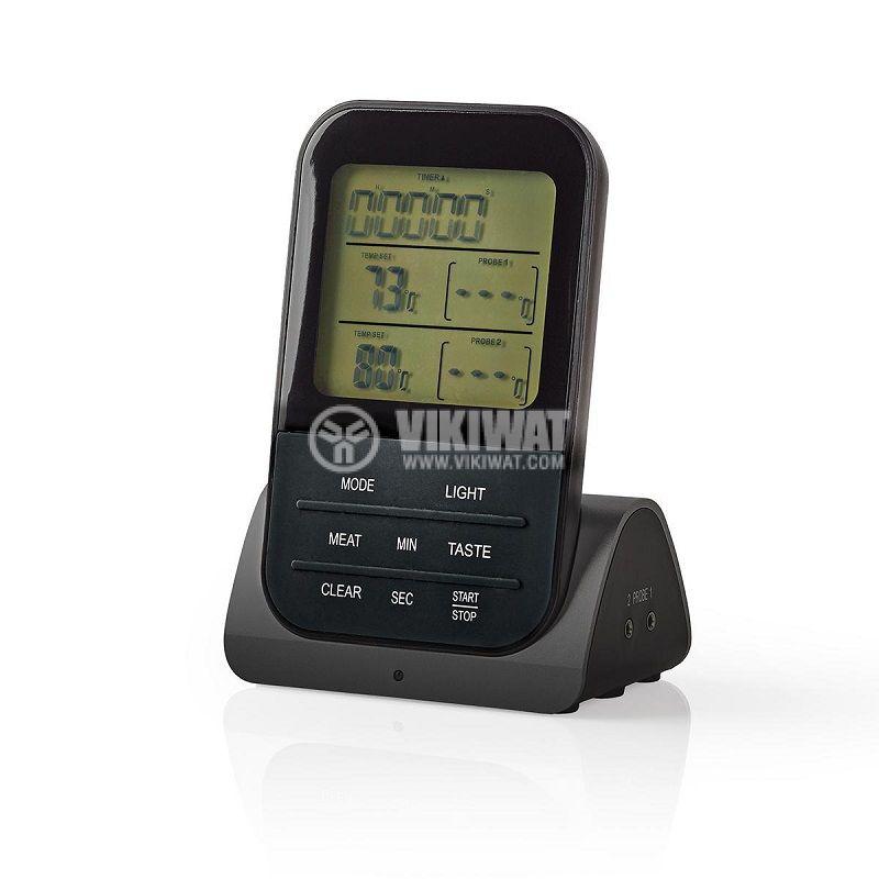 Термометър за храни KATH107GY, безжичен, с две сонди, от 0 до 250 °C - 2