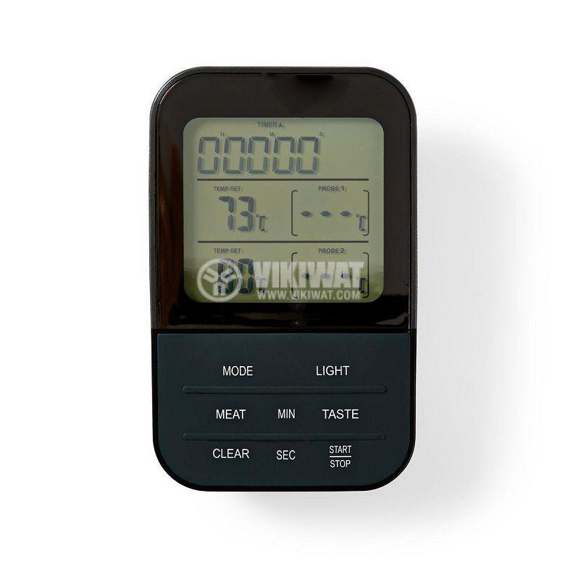 Термометър за храни KATH107GY, безжичен, с две сонди, от 0 до 250 °C - 6