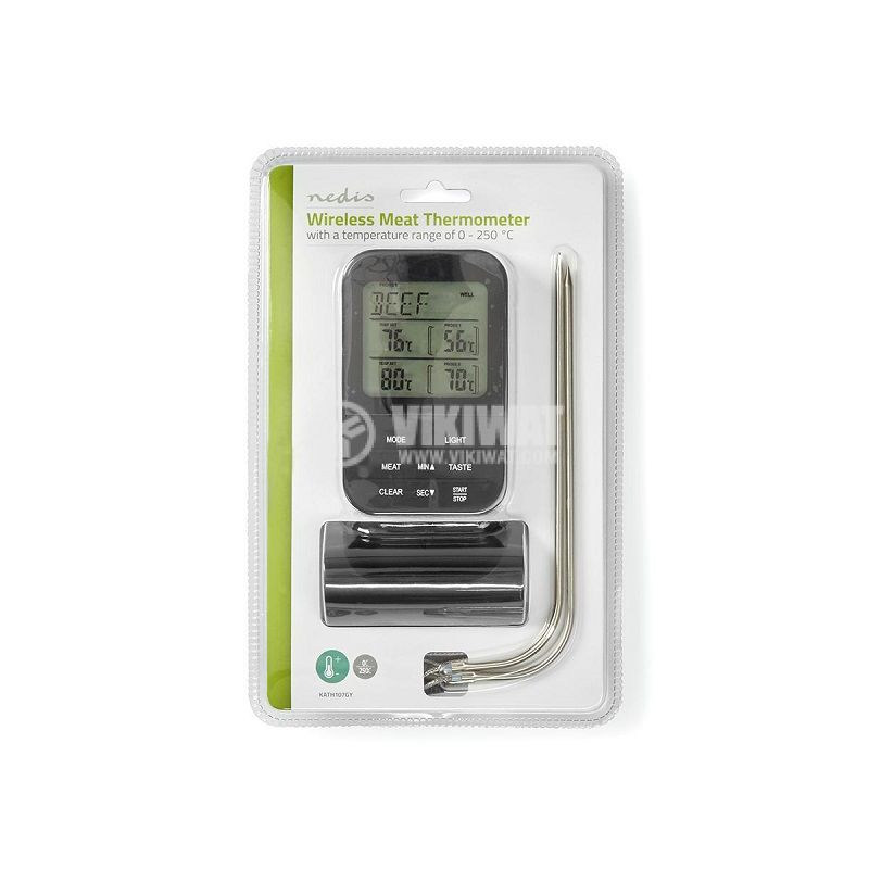 Food Thermometer, KATH107GY, Wireless - 8