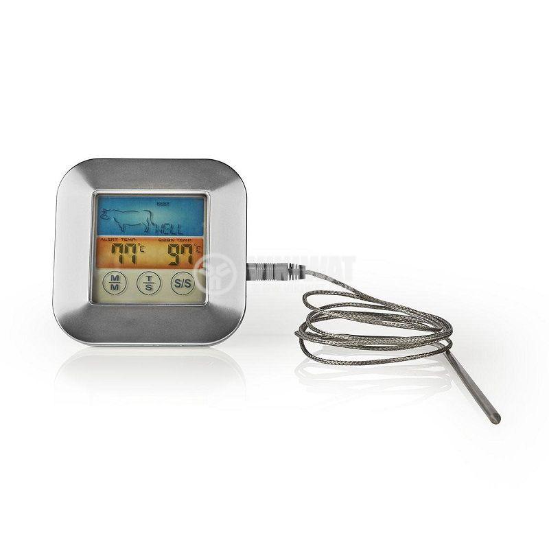Термометър за храна и течности, от 0 до 250°C, KATH106SI, с таймер - 1