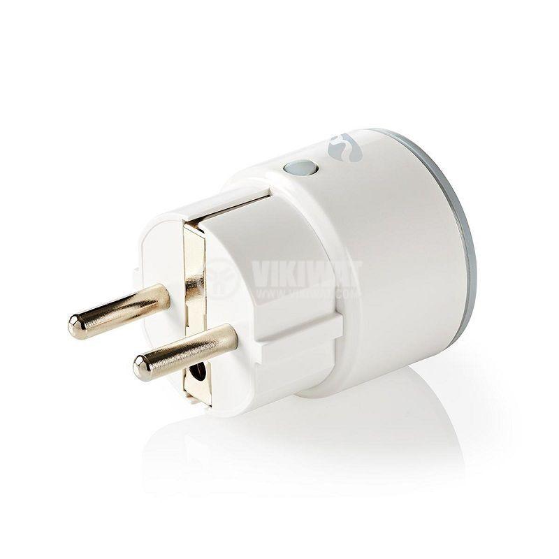 Wi-Fi smart контакт WIFIP110FWT, за мониторинг на потребление, 10A, 240VAC - 1