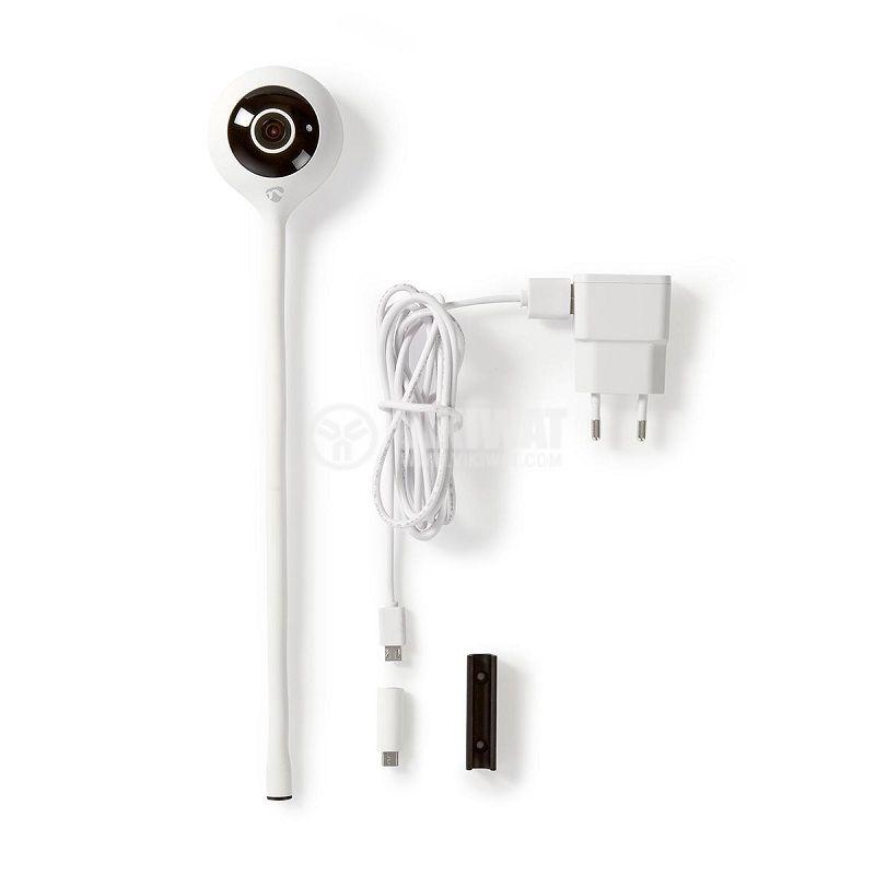 Кaмера за видеонаблюдение 2Mpx(1920x1080p), 2.5mm, IP20, 110°, бяла, NEDIS - 6