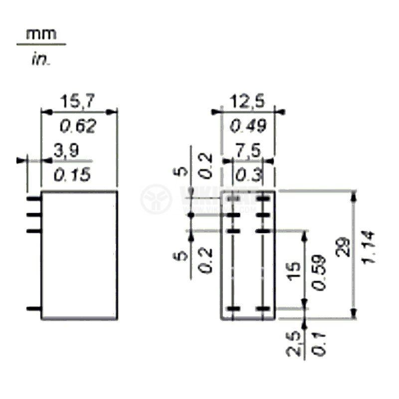 Реле електромагнитно RSB2A080P7, 2xNO+2xNC - 3