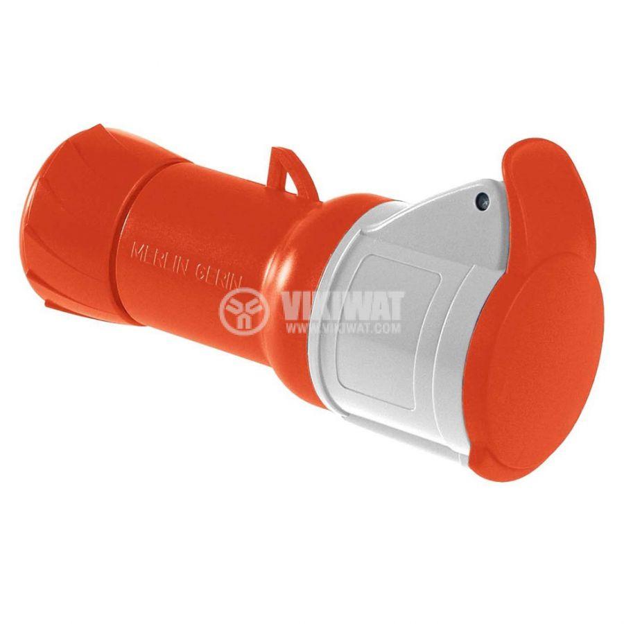 Индустриален съединител женски 32A 415V 3P+N+E SCHNEIDER PKF32M435