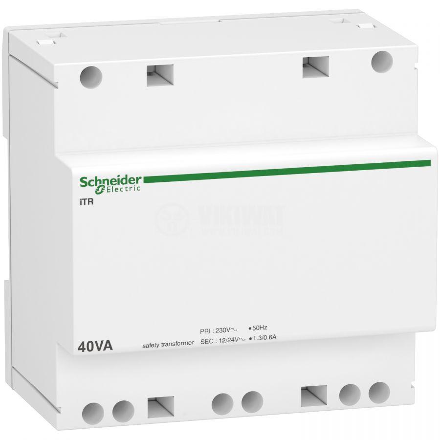 Трансформатор за DIN шина A9A15220 230-12/24VAC 40VA