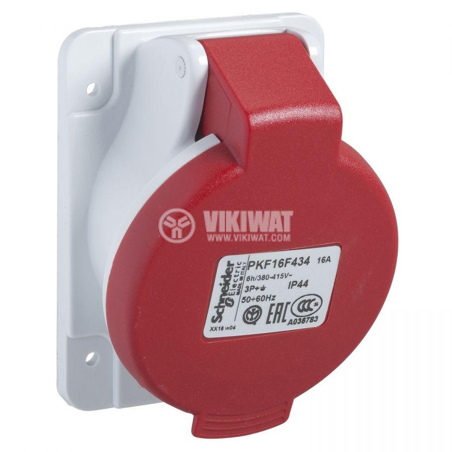 Индустриален съединител женски 16A 415V 3P+N+E SCHNEIDER PKF16F435
