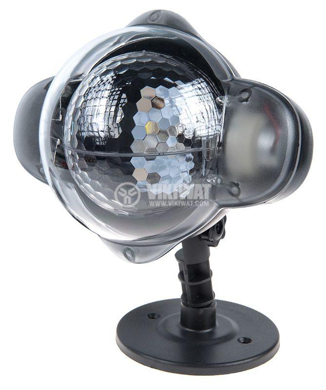 Коледен LED прожектор с точки, едноцветен, IP65, 3m, 230VAC - 1