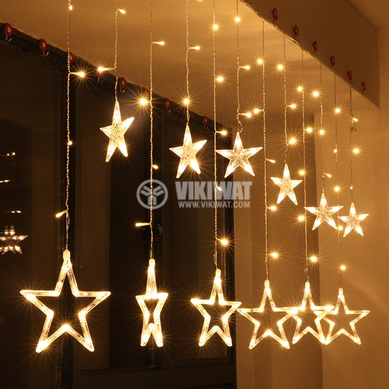 Christmas star type decoration 2.5m warm white IP20 138 LED outdoor installation - 1