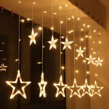 Christmas star type decoration 2.5m warm white IP20 138 LED outdoor installation