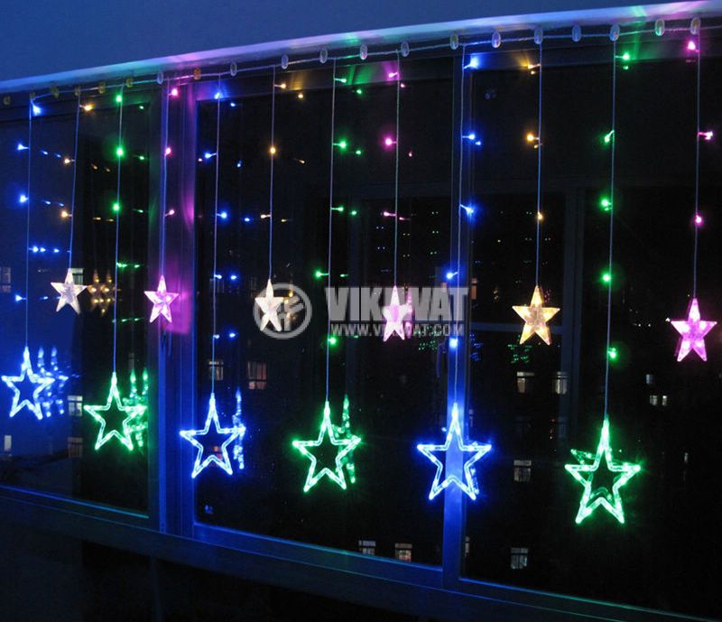 Christmas star type decoration 2.5m RGB 138 LED - 1