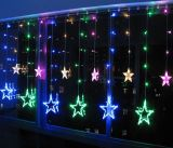 Коледна украса тип звезди, 2.5m, RGB, IP20, 138 LED