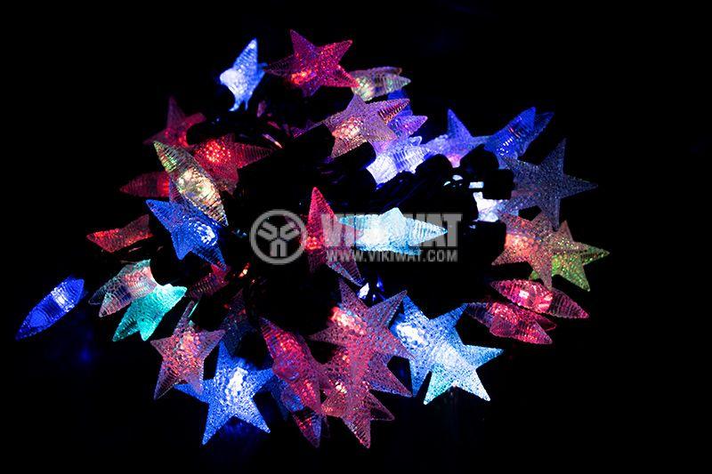 Коледна украса тип въже 5m 6W RGB 220V 50 LEDs - 1
