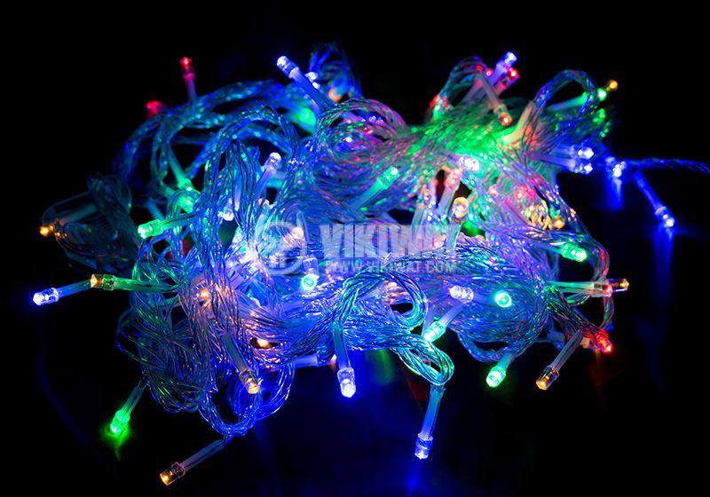 Светеща коледна украса тип въже гирлянд 9m 100LED 4W RGB - 1