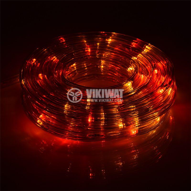 LED светещ маркуч RGB 19LED/m ф9mm IP44 влагозащитен - 4