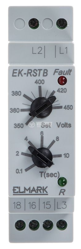Phase sequence control relay, 300 ~ 480VAC, DIN  - 2