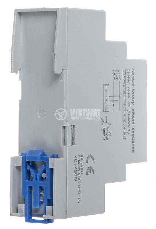 Phase sequence control relay, 300 ~ 480VAC, DIN  - 3