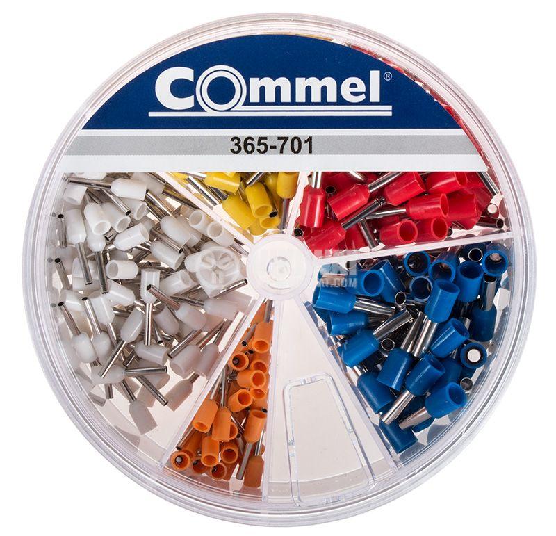 Комплект изолирани контактни накрайници тип тръбичка 5 вида 100 броя - 1