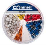 Комплект изолирани контактни накрайници, тип тръбичка, 5 вида, 100 броя
