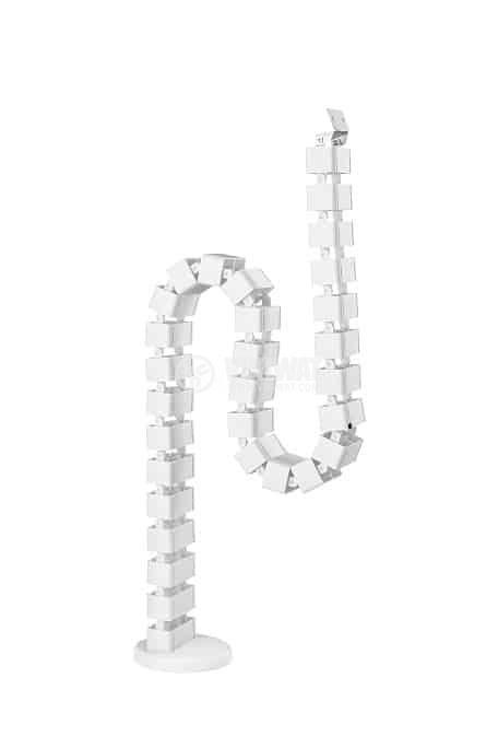 Кабелен организатор 30 секции метална основа бял 1290mm
