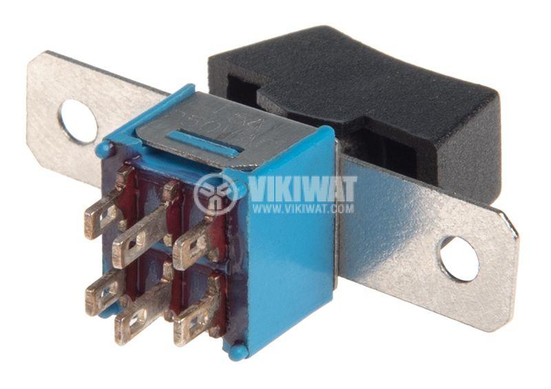 Rocker превключвател, 3 позиции, ON-OFF-ON, 1.5A/250VAC, отвор 16x7mm - 3