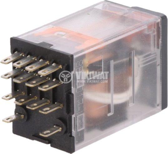 Реле бобина 24VAC 6A 250VAC/28VDC 4PDT 4xNO+4xNC - 2