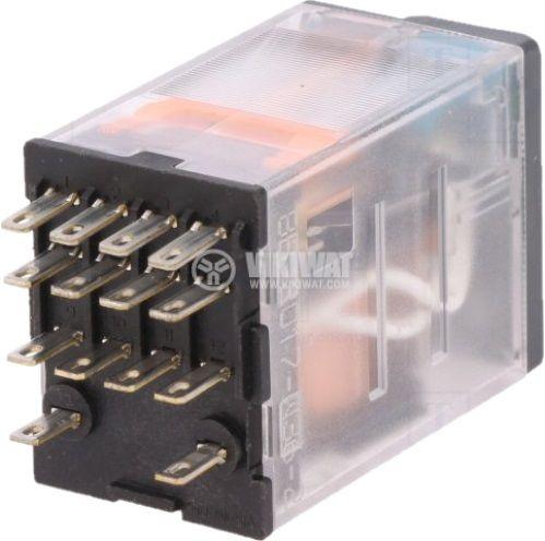 Реле бобина 24VDC 6A 250VAC/28VDC 4PDT 4xNO+4xNC - 2