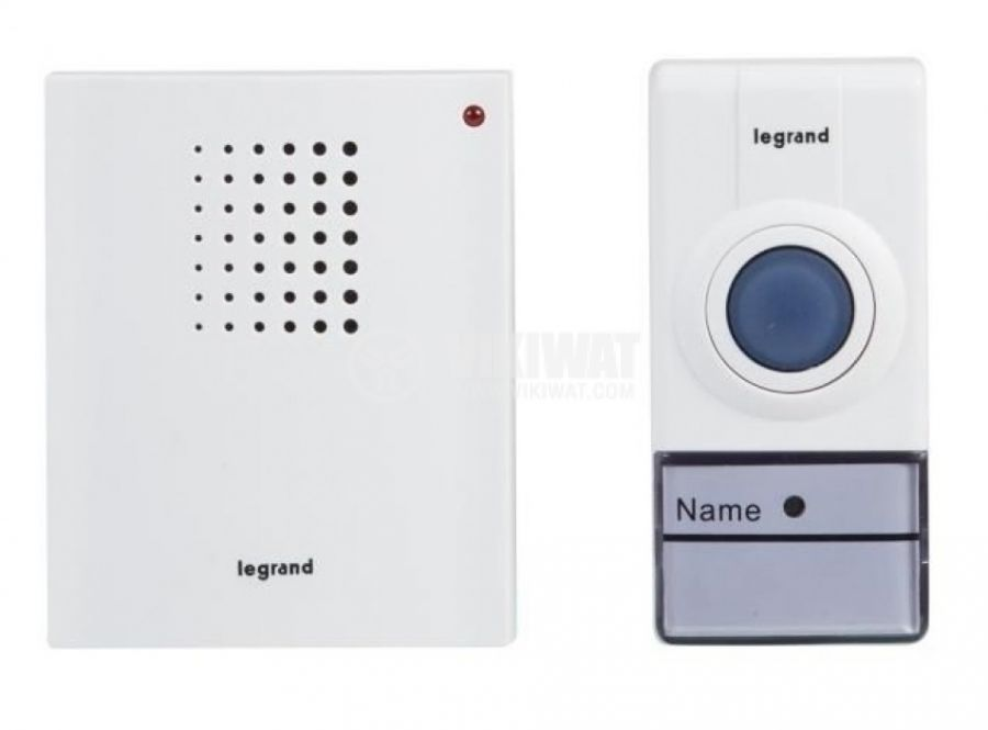 Безжичен звънец 94250 2xAA 80dB IP44 50m бял - 1