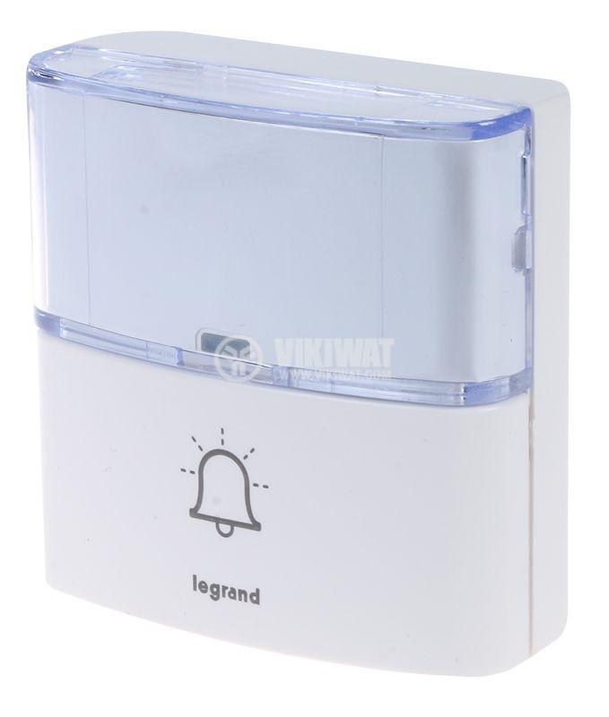 Безжичен бял бутон за звънец Serenity легранд 94279 - 1