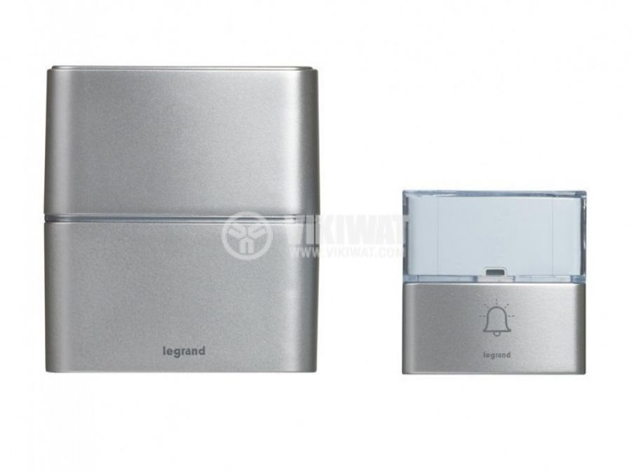 Wireless doorbell LEGRAND 94271 3xAA 80dB IP54 grey
