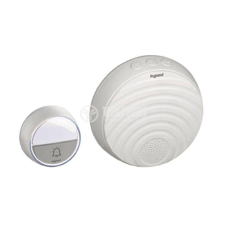 White wireless doorbell legrand 94254 - 1