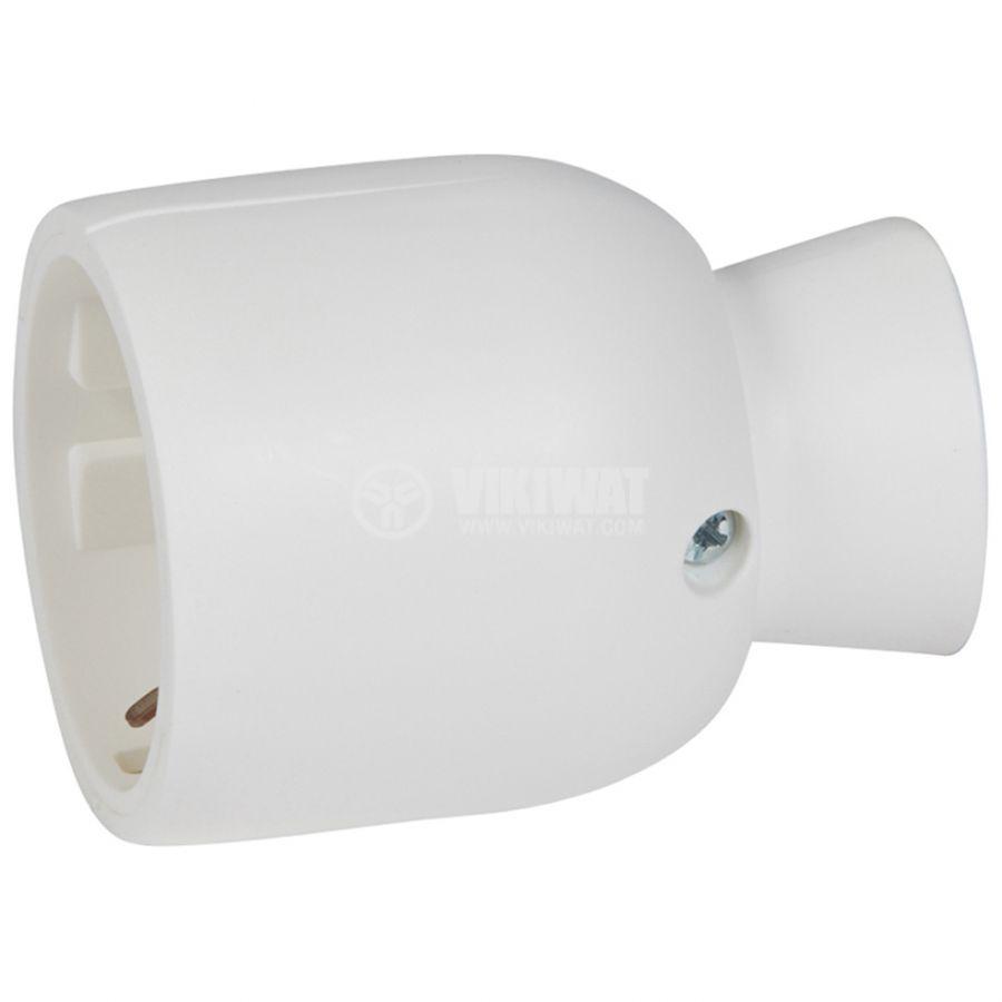 Гнездо шуко единично 250V 16А IP20 бяло LEGRAND 50317