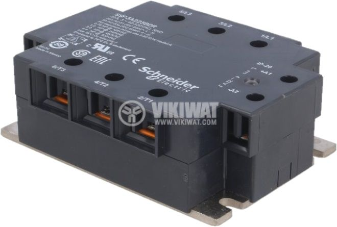 Реле трифазно полупроводниково 48~530V 25A 4~32V - 3
