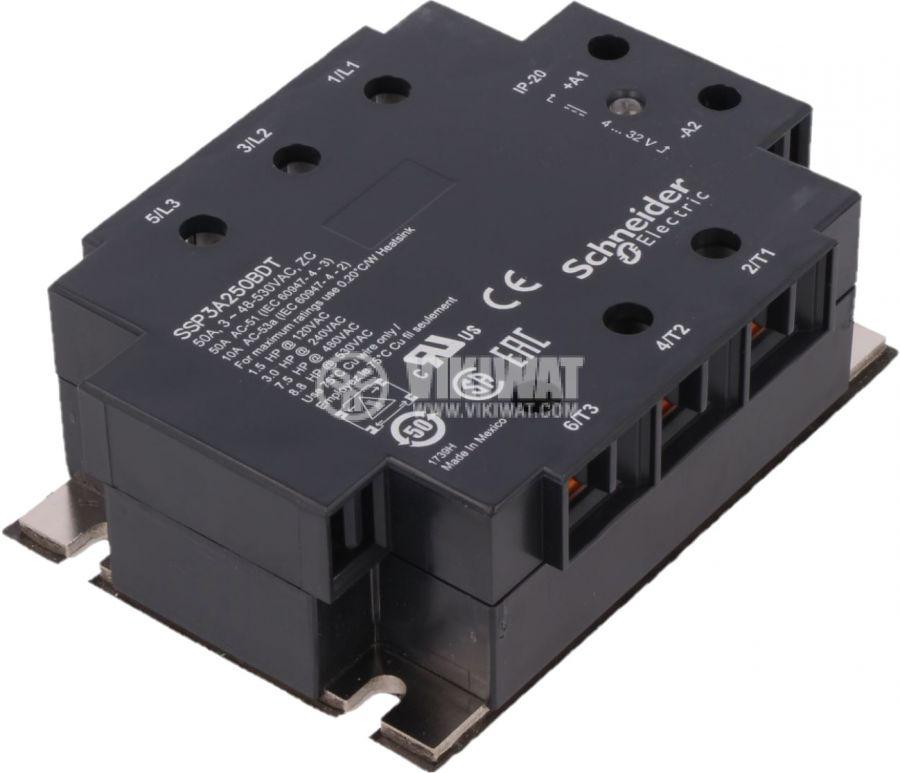 Солид стейт реле SSP3A250BDT трифазно полупроводниково 48~530VAC 50A 4~32VDC
