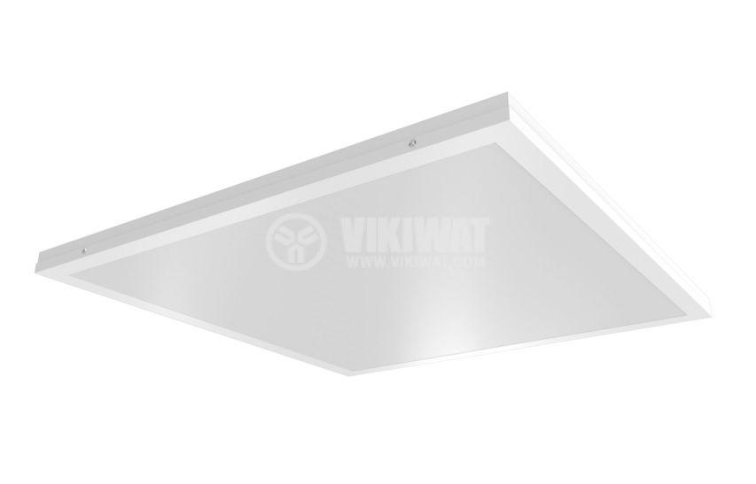 LED панел за обемен монтаж 50W квадрат 220V 4000lm 6500K студено бял 595х595mm