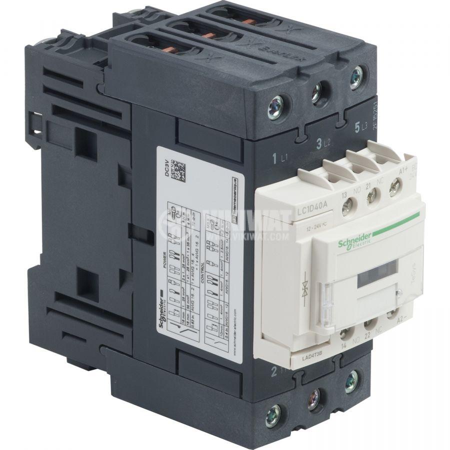 Contactor LC1D40ABD 3-pole 3xNO 24V 40A 690V