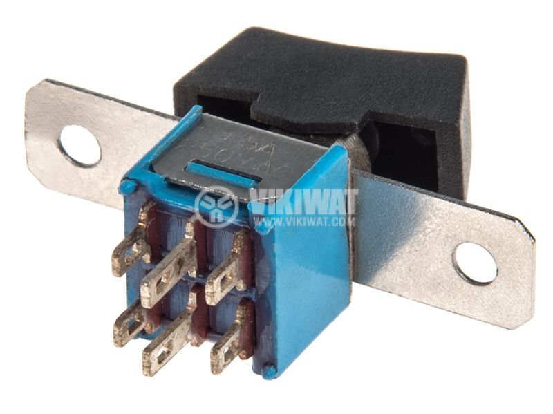 Rocker превключвател, 2 позиции, ON-ON, 1.5A/250VAC, отвор 16x7mm - 3
