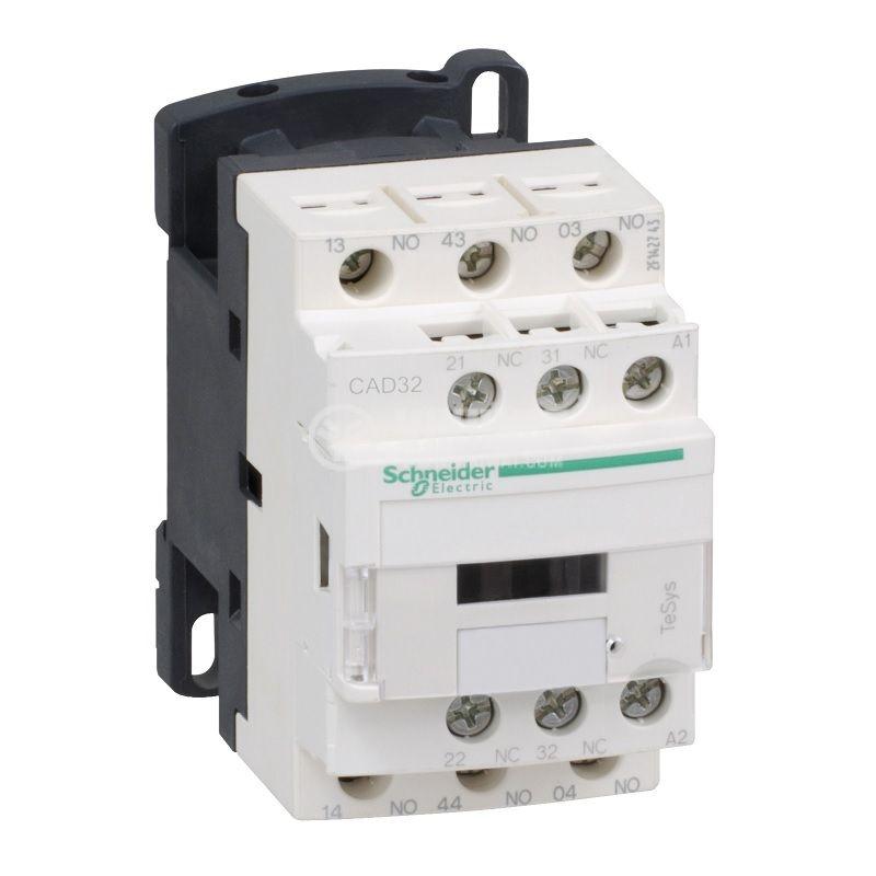 Контактор CAD32BD, 5-полюсен, 3xNO+2xNC, 10A, 24VDC