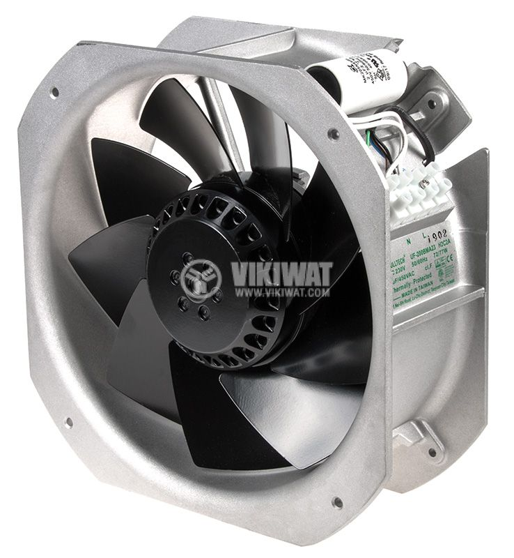 Вентилатор 230VAC, 225x225x80mm, със сачмен лагер, 884m³/h, UF200BMA23H2C2A - 1
