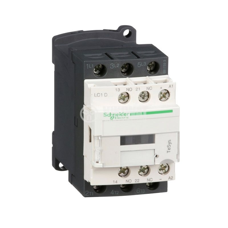 Контактор LC1D12BD, 3-полюсен, 3xNO, 12A, 24VDC, помощни контакти NO+NC