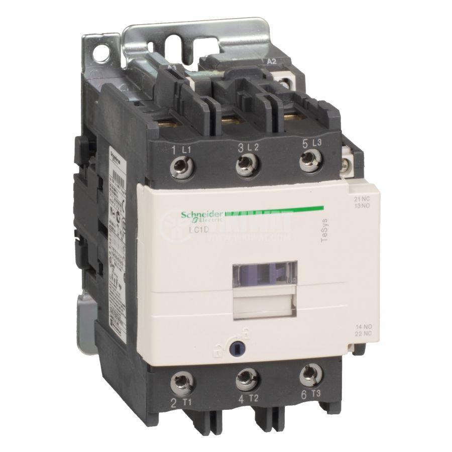 Контактор LC1D80P7 3-полюсен 3xNO 80A 230V помощни контакти NO+NC