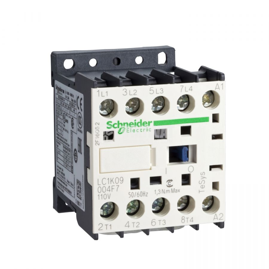 Контактор LC1K09004B7 4-полюсен 4xNO 9A 24VАC