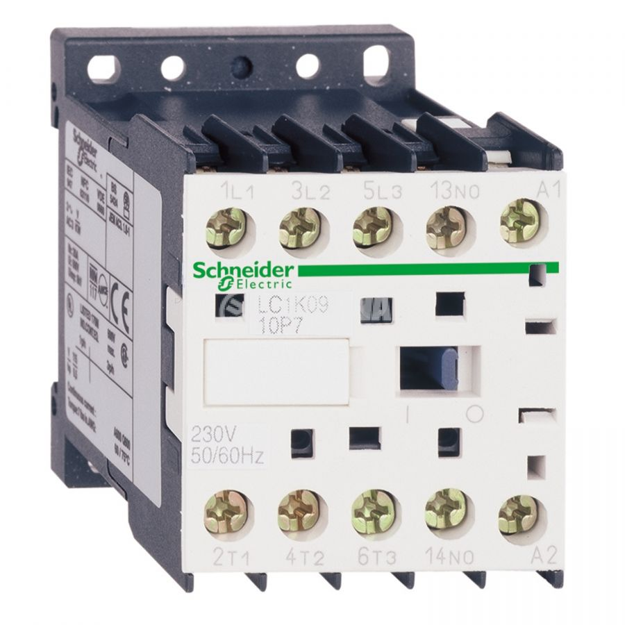 Contactor LC1K0901B5 3-pole 3xNO 9A 24V auxiliary contact NC