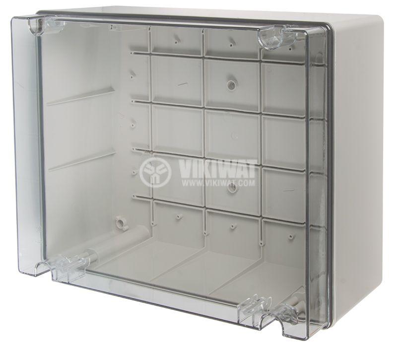 Кутия за табло 686.430 сива с прозрачен капак IP56 - 1