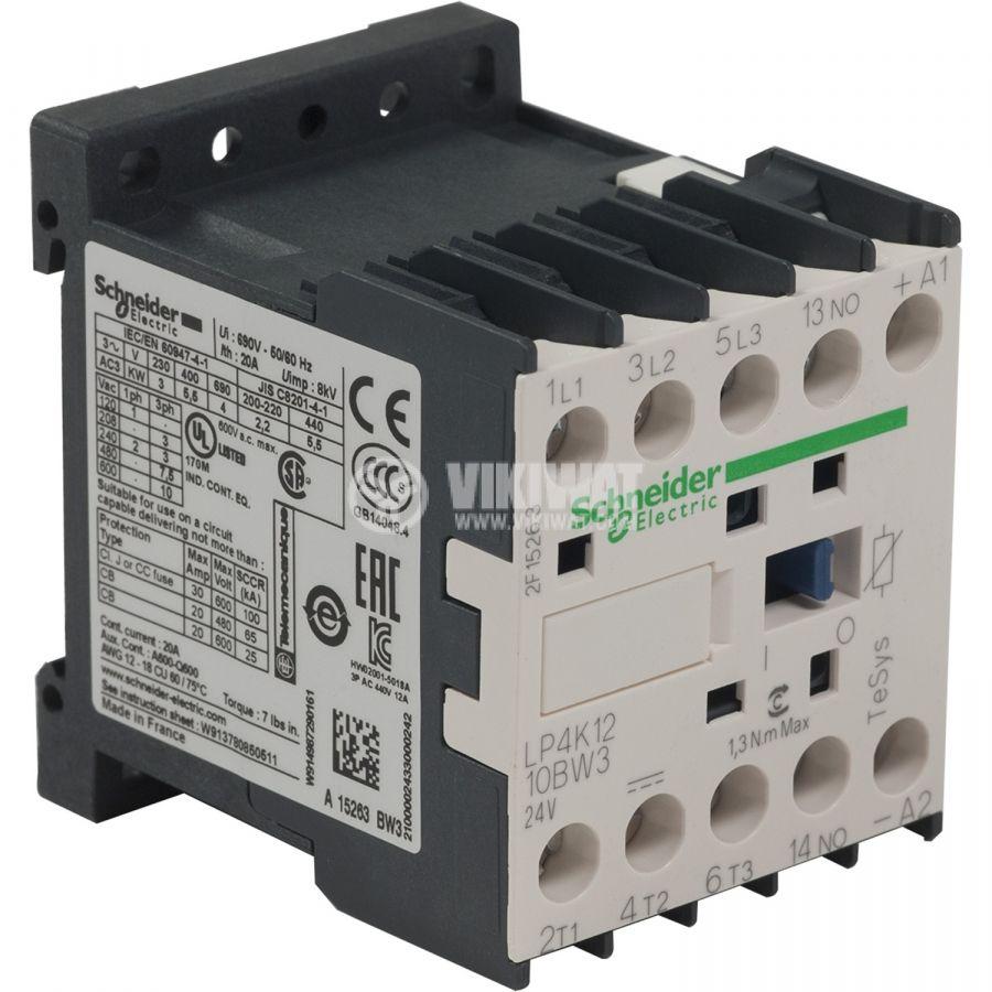 Контактор LP4K1210BW3 3-полюсен 3xNO 12A 24VDC