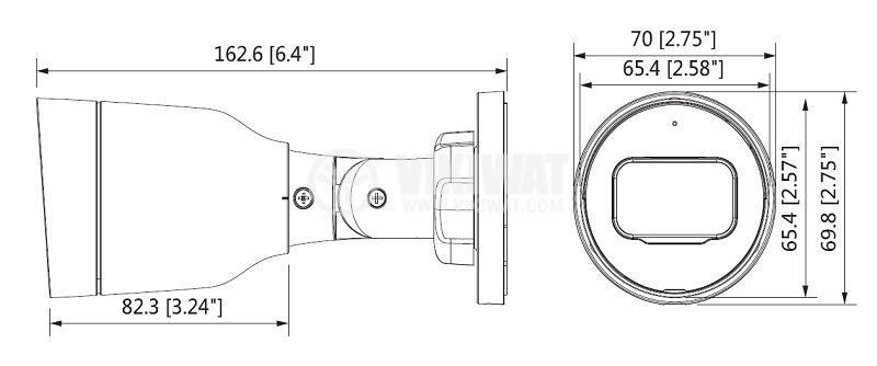 Камера за видеонаблюдение DAHUA, IP насочена, 4 Mpx(2688x1520p) - 2