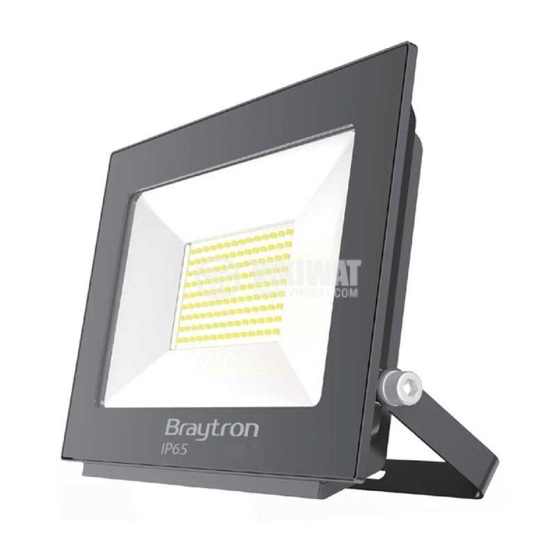 LED прожектор 20W, 230VAC, 1600lm, 3000K, топлобял, IP65, влагозащитен, SLIM, BT60-02002 - 1