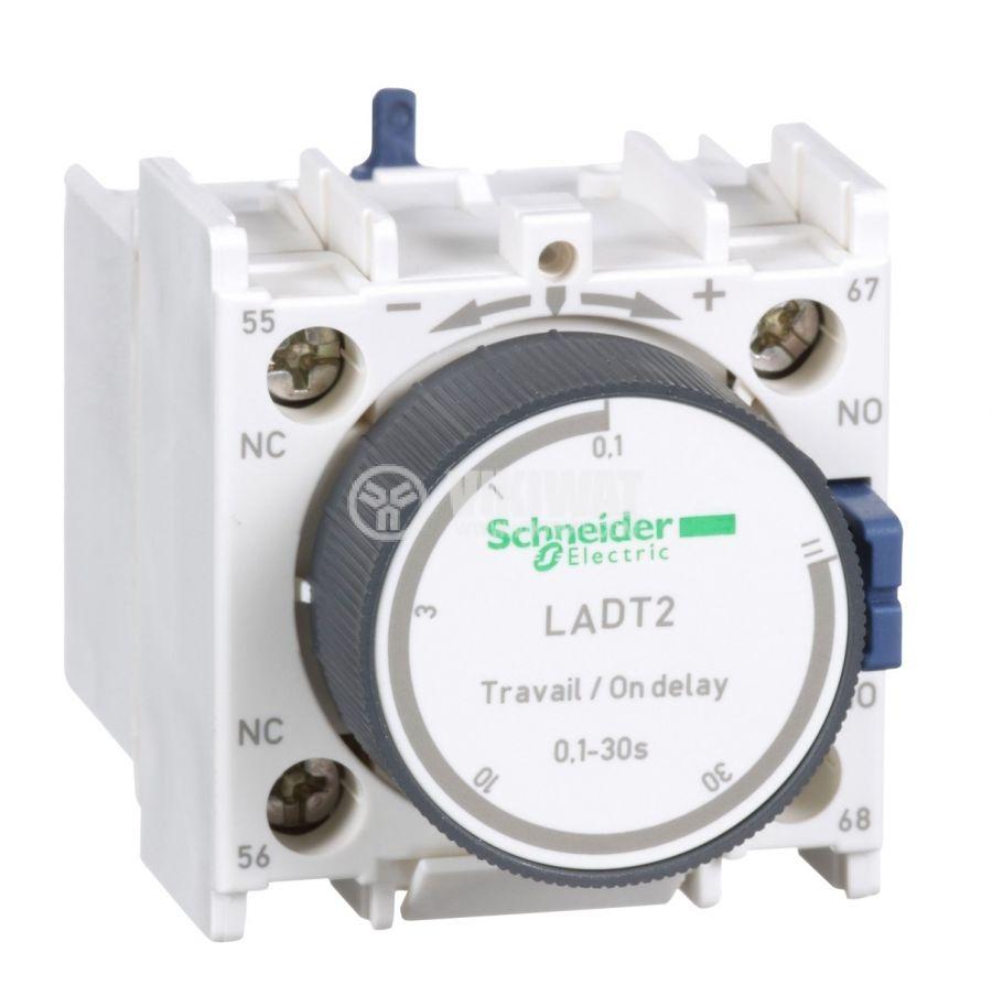 Времезакъснителен блок LADT2 SPDT-NO+NC 10A/690V 0.1-30s