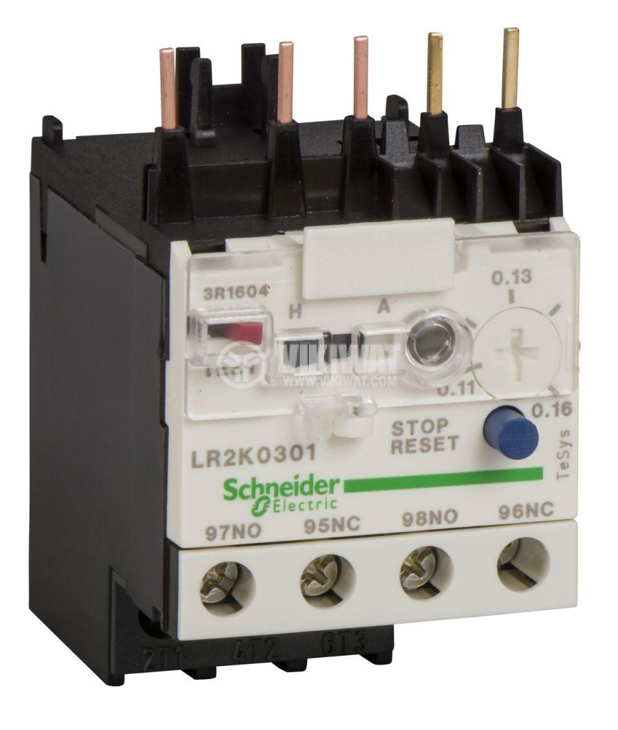 Термично реле LR2K0306 трифазно 0.8-1.2A NO+NC 6A/690V